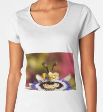 Detail of a common passion flower Women's Premium T-Shirt
