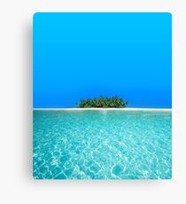 Breathtaking Maldivian Atoll in the Laccadive Sea Canvas Print