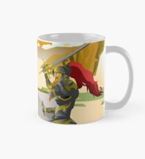 european knight fighting an aztec warrior in the jungle Mug