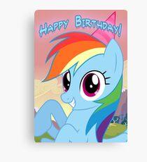 My little Pony: Friendship is Magic - Rainbow Dash Birthday Card / Postcard Canvas Print