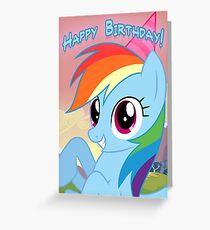 My little Pony: Friendship is Magic - Rainbow Dash Birthday Card / Postcard Greeting Card