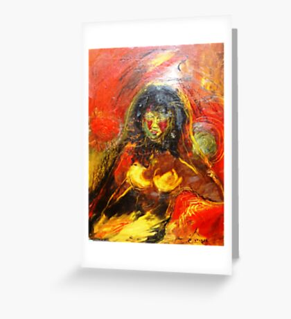 Red Light Lady Greeting Card