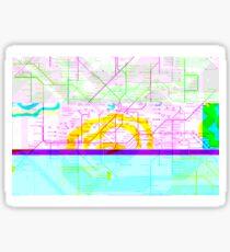 Glitch Map - London Underground Sticker