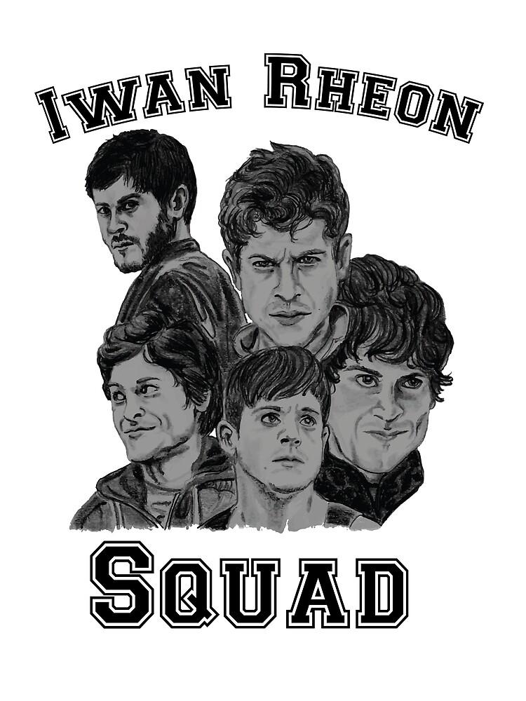Iwan Rheon mural by JennaJ