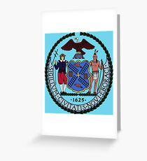Seal of New York City 2 Greeting Card