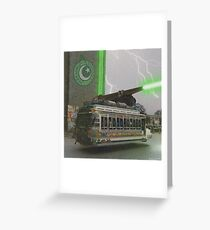 Our Top Secret Bedford Bus Mounted Directed Energy Torpedo Cannon Greeting Card
