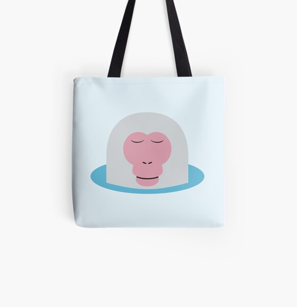 Snow Monkey All Over Print Tote Bag