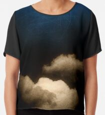 Clouds in a scratched darkness Chiffon Top