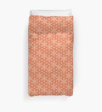Japanisches Asanoha Muster - Korallenorange Bettbezug