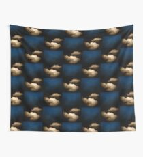 Clouds in a scratched darkness Wall Tapestry