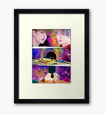 BTS LOVE YOURSELF DNA JUNGKOOK AND V Framed Print