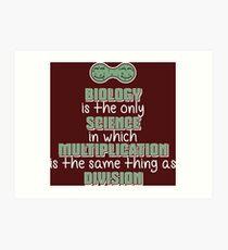 Biology ➢ Multiplication = Division➢ Funny Science Kunstdruck