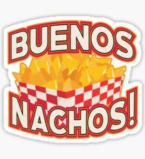 Funny Mexican Food - Buenos Nachos! Sticker
