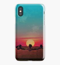 Sunset (Red/Blue Alternative) iPhone Case
