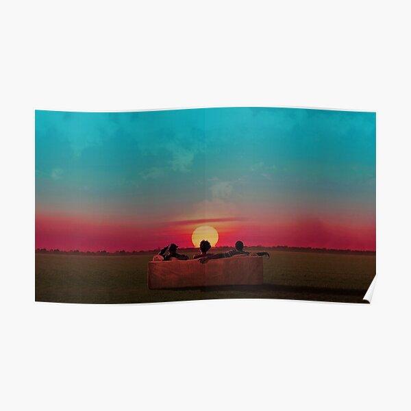 Sunset (Red/Blue Alternative) Poster