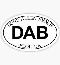 DUNE ALLEN BEACH FLORIDA EURO OVAL DAB Sticker