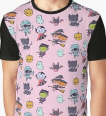 Cute Halloween Stickers Graphic T-Shirt