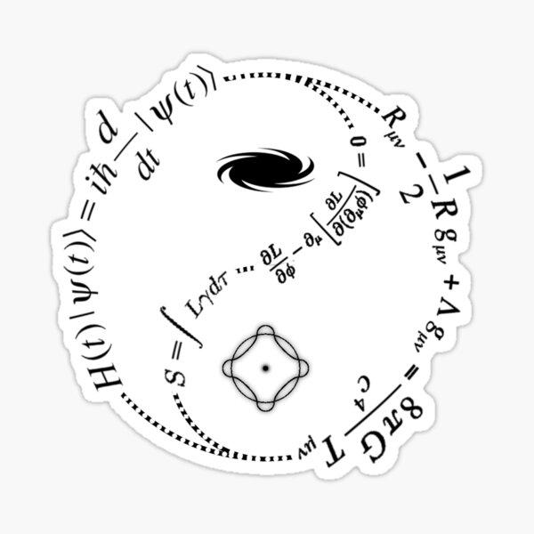 Yin Yang of Physics [LIGHT] Sticker