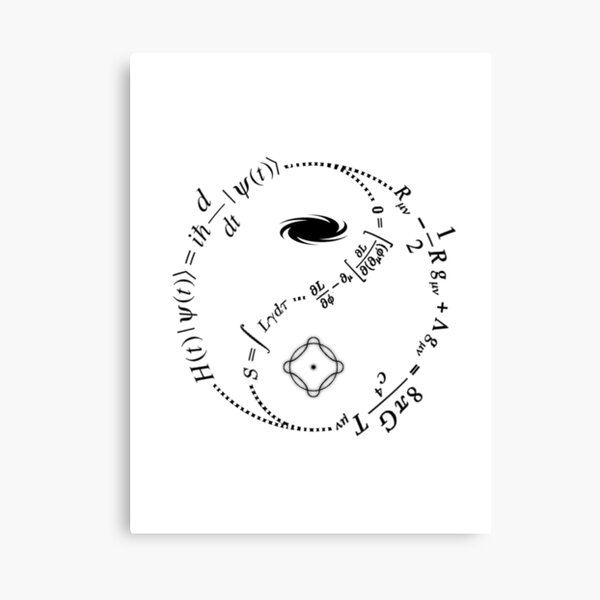 Yin Yang of Physics [LIGHT] Canvas Print