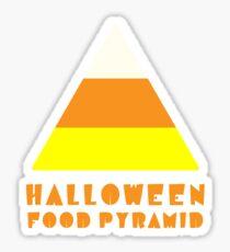 Funny Candy Corn Halloween Food Pyramid Sticker
