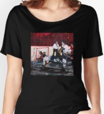 Tragically Hip Bill Barilko original painting by Paul Syme 2016 Women's Relaxed Fit T-Shirt