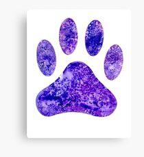 Purple Paw Canvas Print