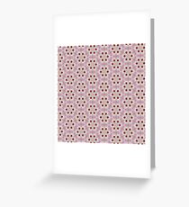 Pink and White Hibiscus Unique Floral Flower Nature Bold Bright Psychedelic Design Greeting Card