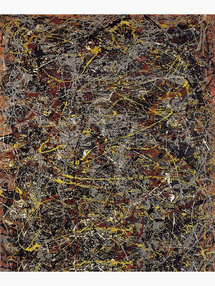 No 5 By Jackson Pollock Greeting Card