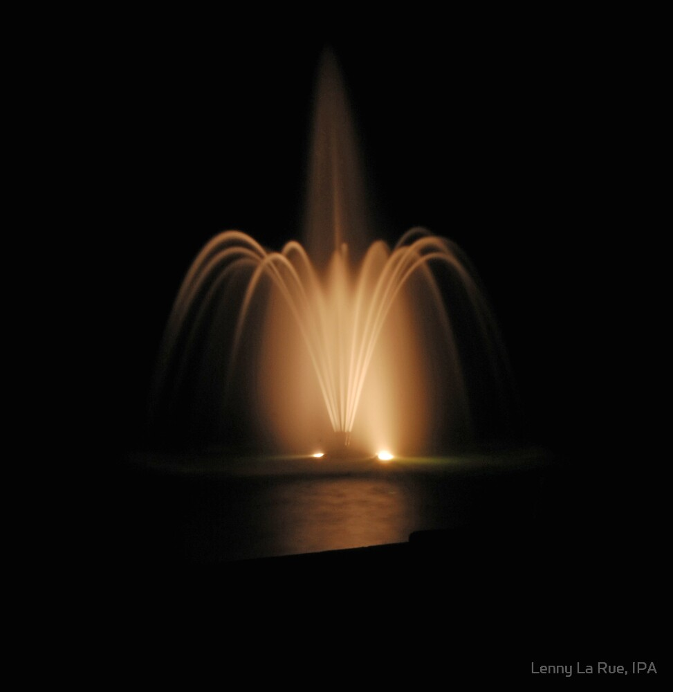 The Lake Wildwood fountain 3 (as is) by Lenny La Rue, IPA