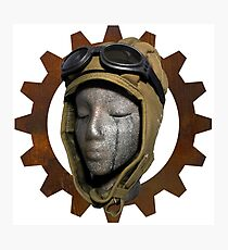 Gear Head Dieselpunk Steampunk Photographic Print