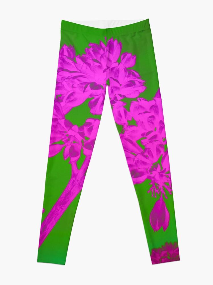 Alternate view of Funky Floral - JUSTART ©  Leggings