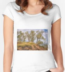 Shores of Lake Michigan Women's Fitted Scoop T-Shirt