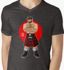 ADAM LIKES KILTS - SHIRTLESS Men's V-Neck T-Shirt
