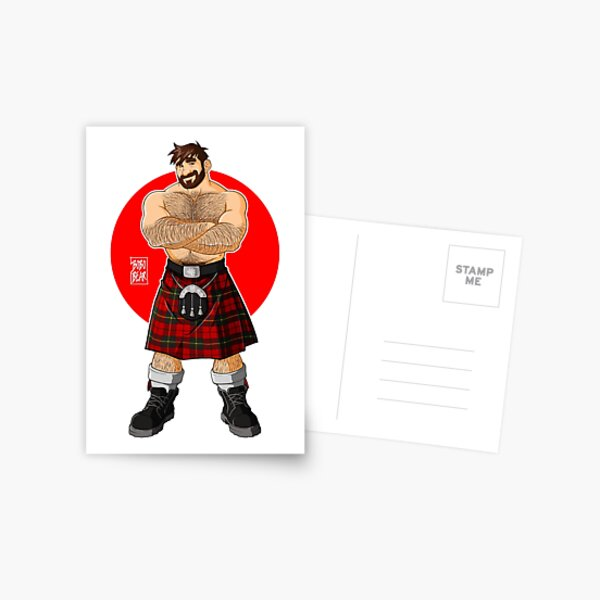 ADAM LIKES KILTS - SHIRTLESS Postcard
