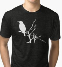 Little Birdy - White Tri-blend T-Shirt