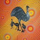 Emu Walk About by Derek Trayner