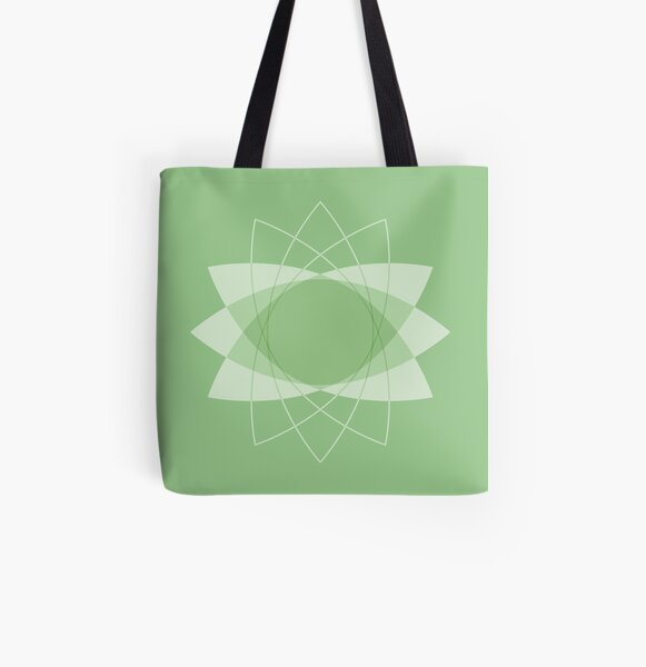 Symmetrical Geometric Design #3 - convex lens All Over Print Tote Bag