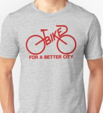 BIKE FOR A BETTER CITY - Red  Logo Collection - Vintage logo 1970 Bike Lobby New York City T-Shirt