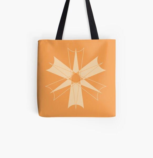 Symmetrical Geometric Design #8 - dart All Over Print Tote Bag