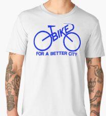 BIKE FOR A BETTER CITY - Blue  Logo Collection - Vintage logo 1970 Bike Lobby New York City Men's Premium T-Shirt
