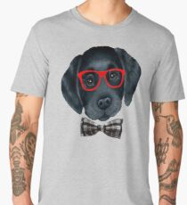 Dog with glasses and tie t-shirt Men's Premium T-Shirt