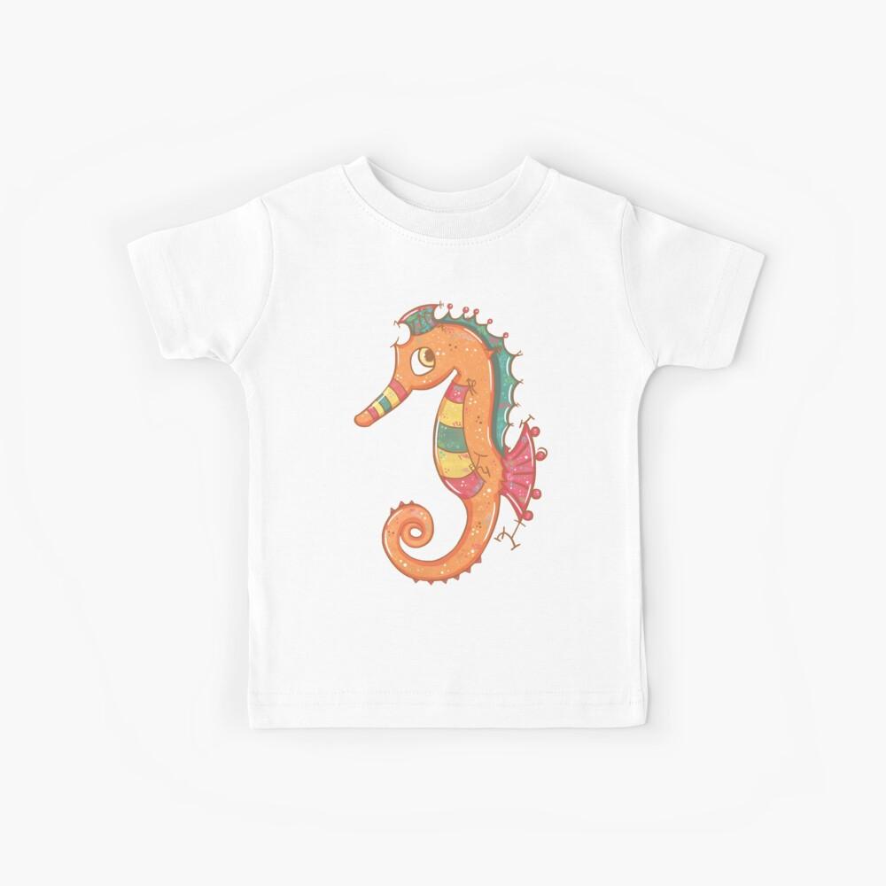 Sparkly Little Seahorse Kids T-Shirt