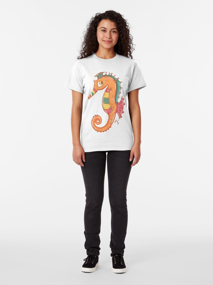 Alternate view of Sparkly Little Seahorse Classic T-Shirt