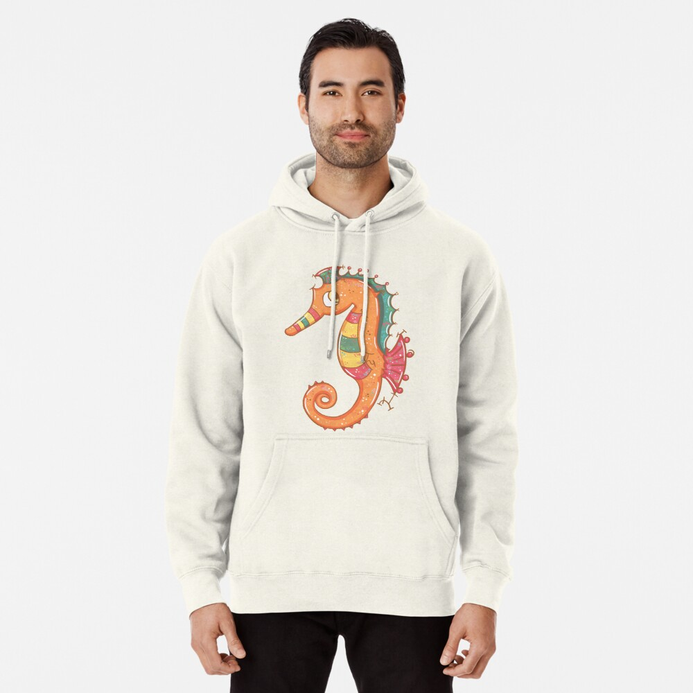 Sparkly Little Seahorse Pullover Hoodie