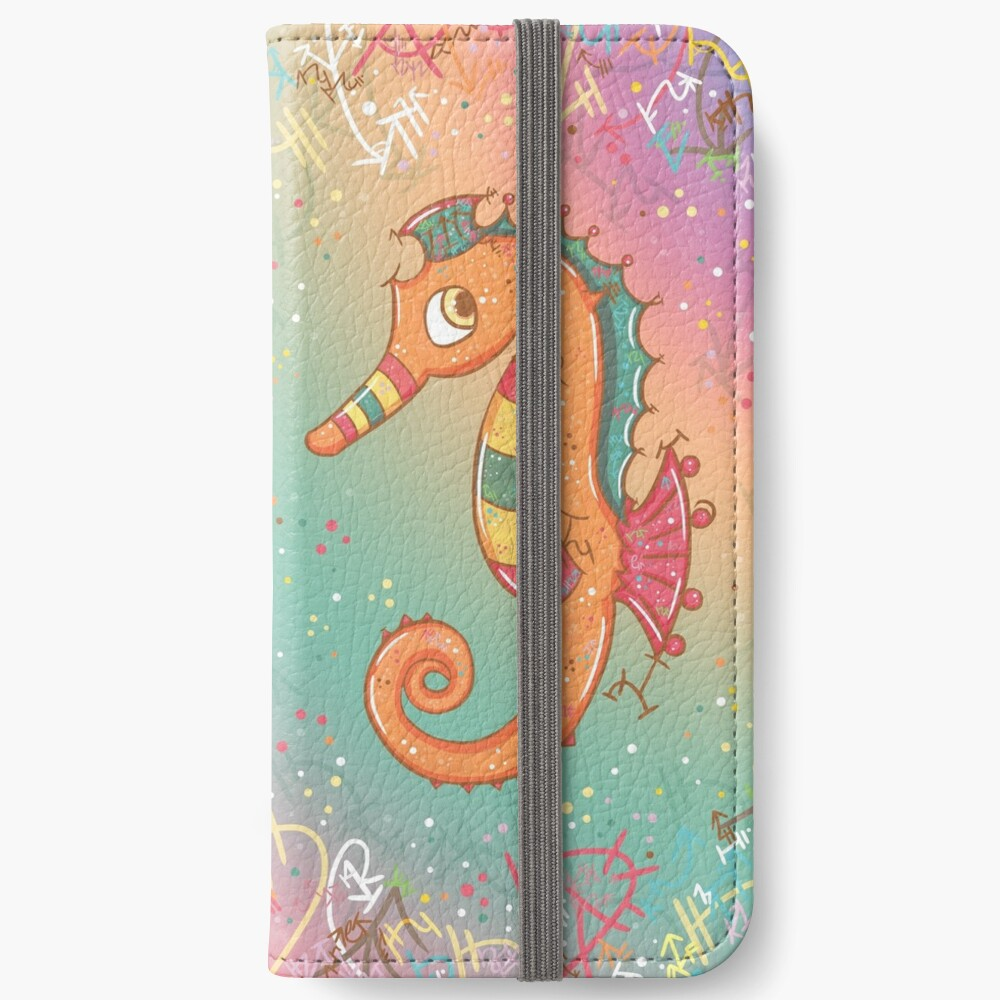 Sparkly Little Seahorse iPhone Wallet