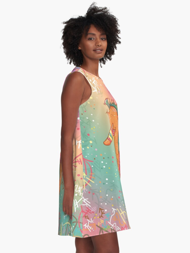 Alternate view of Sparkly Little Seahorse A-Line Dress