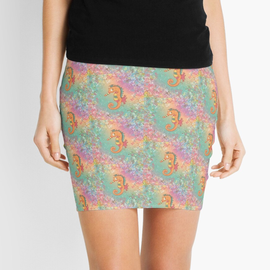 Sparkly Little Seahorse Mini Skirt