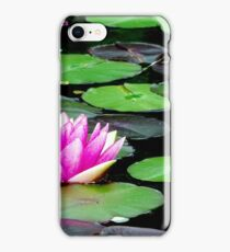 Iris of water, color of rose, mare, hdr, Zen, happiness, meditation iPhone Case/Skin