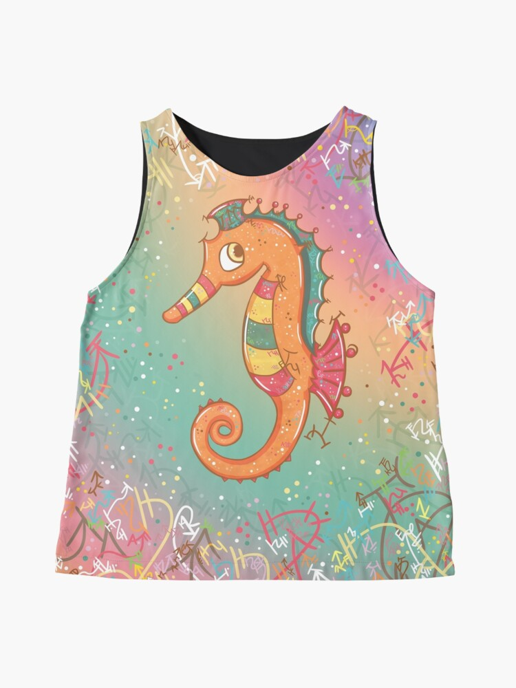 Alternate view of Sparkly Little Seahorse Sleeveless Top