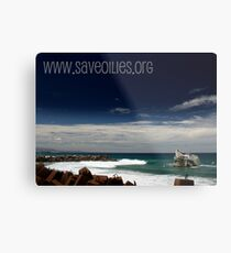 www.saveoilies.org please help us save our foreshore Metal Print